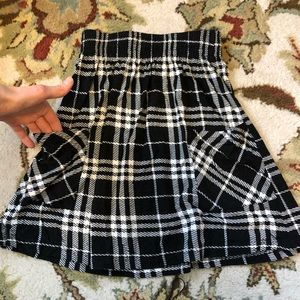 NWOT Silence noise plaid black skirt pockets XS